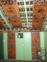 Traditional Tapa covered walls in Fala (cottage)